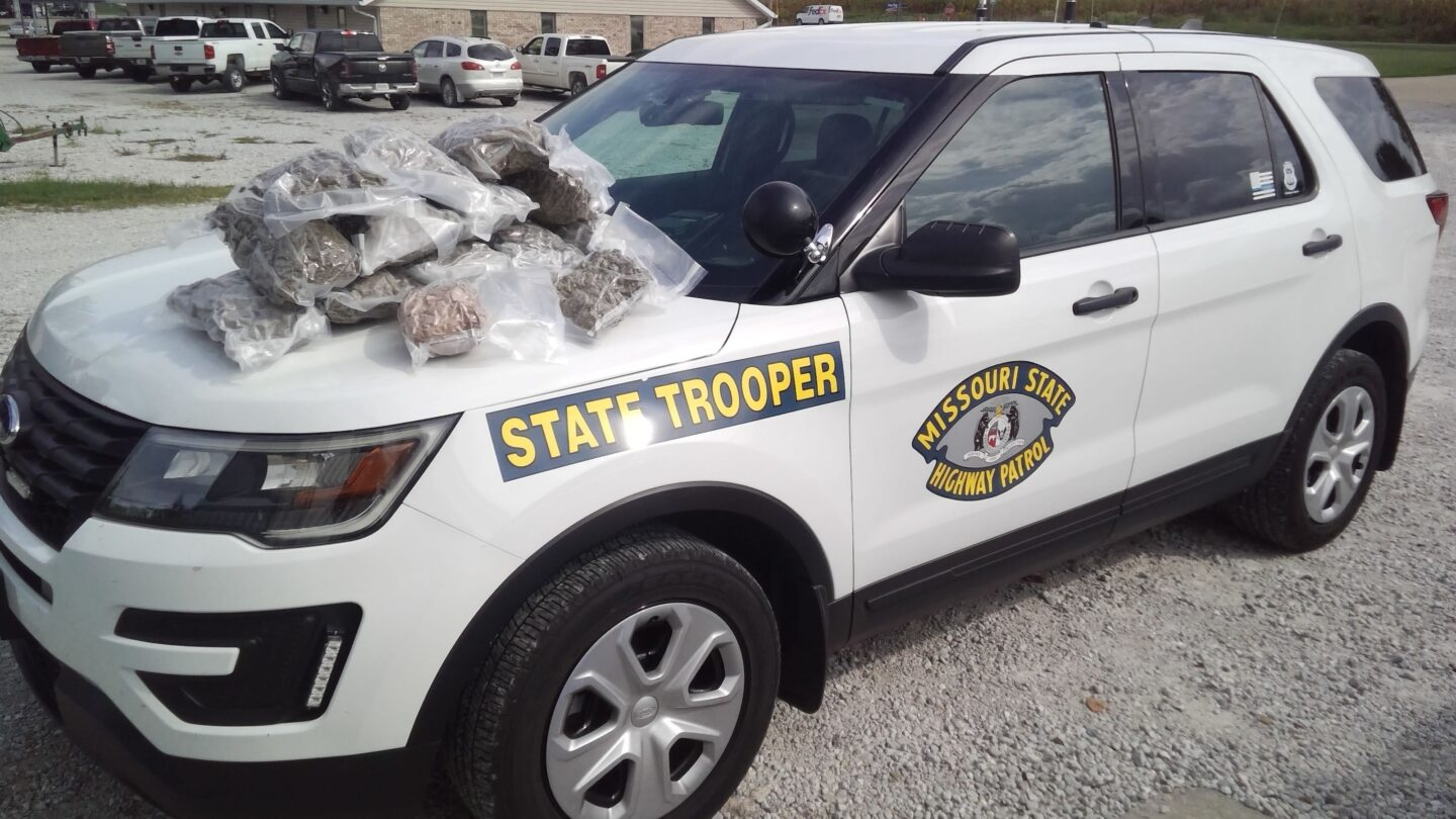 Missouri Highway Patrol seized 13 pounds of marijuana during a traffic stop on Sept. 23, 2020.
