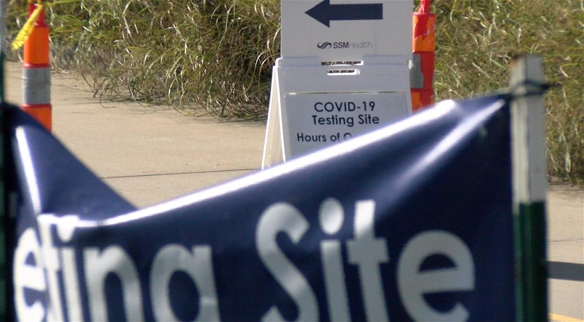 SSM Health St. Mary's COVID-19 Testing site 9-3-2020