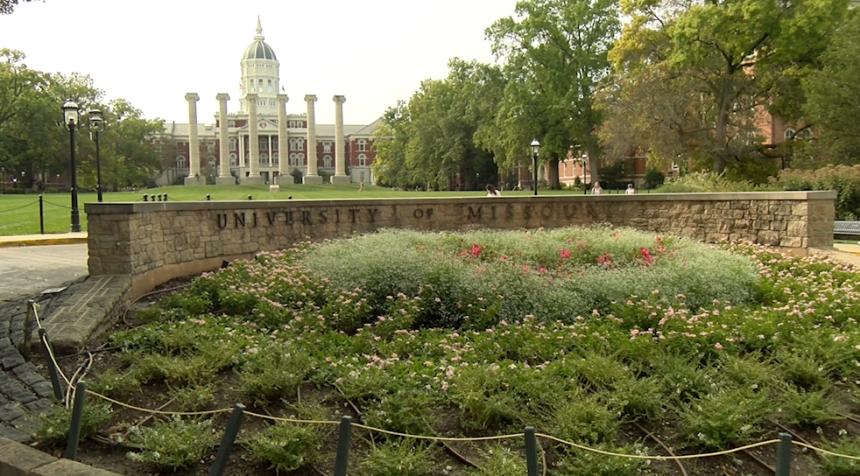 The University of Missouri Francis Quadrangle.