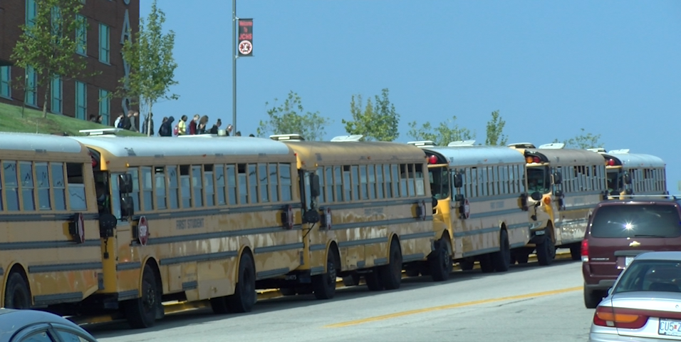 Buses Outside of JC High School