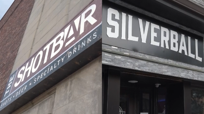 The Shot Bar and Silverball in downtown Columbia.