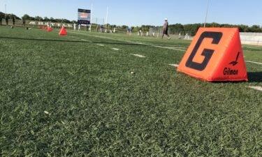 The football field at Battle High School
