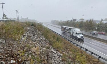 Vehicles in snow on Interstate 70