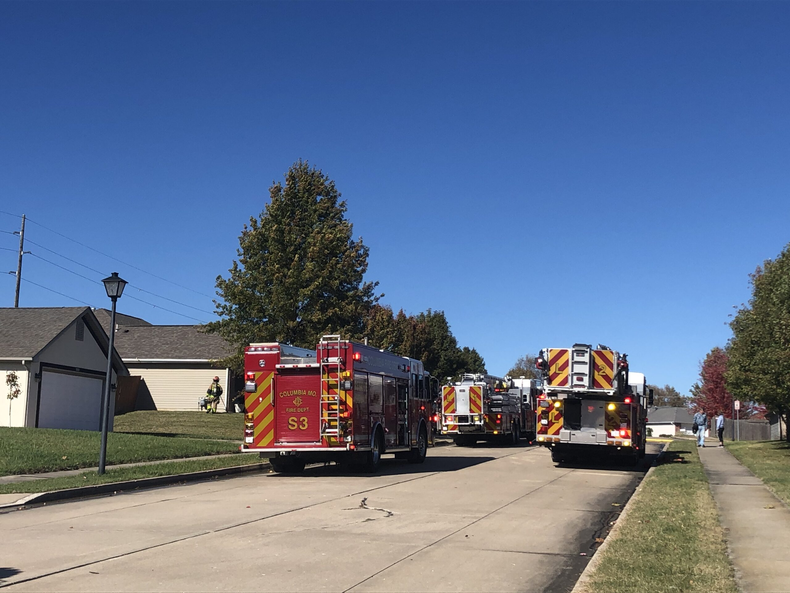 Columbia firefighters respond to a fire on Monsoon Lane
