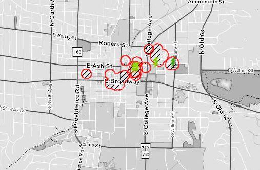 Water and Light outage map