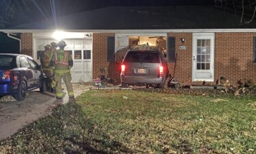 No injuries were reported after a car crashed into a house on Southridge Drive on Saturday.