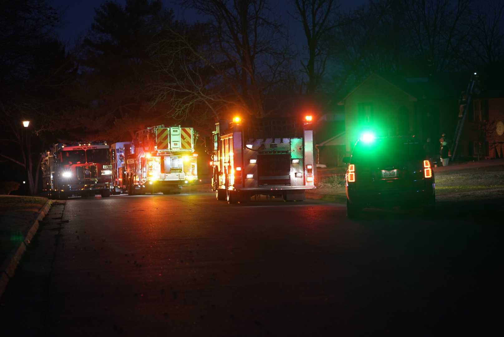 Reported structure fire at a home on the 2700 block of Malibu Court on Dec. 25, 2020.