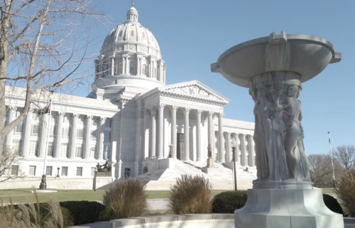 Missouri Capitol in winter