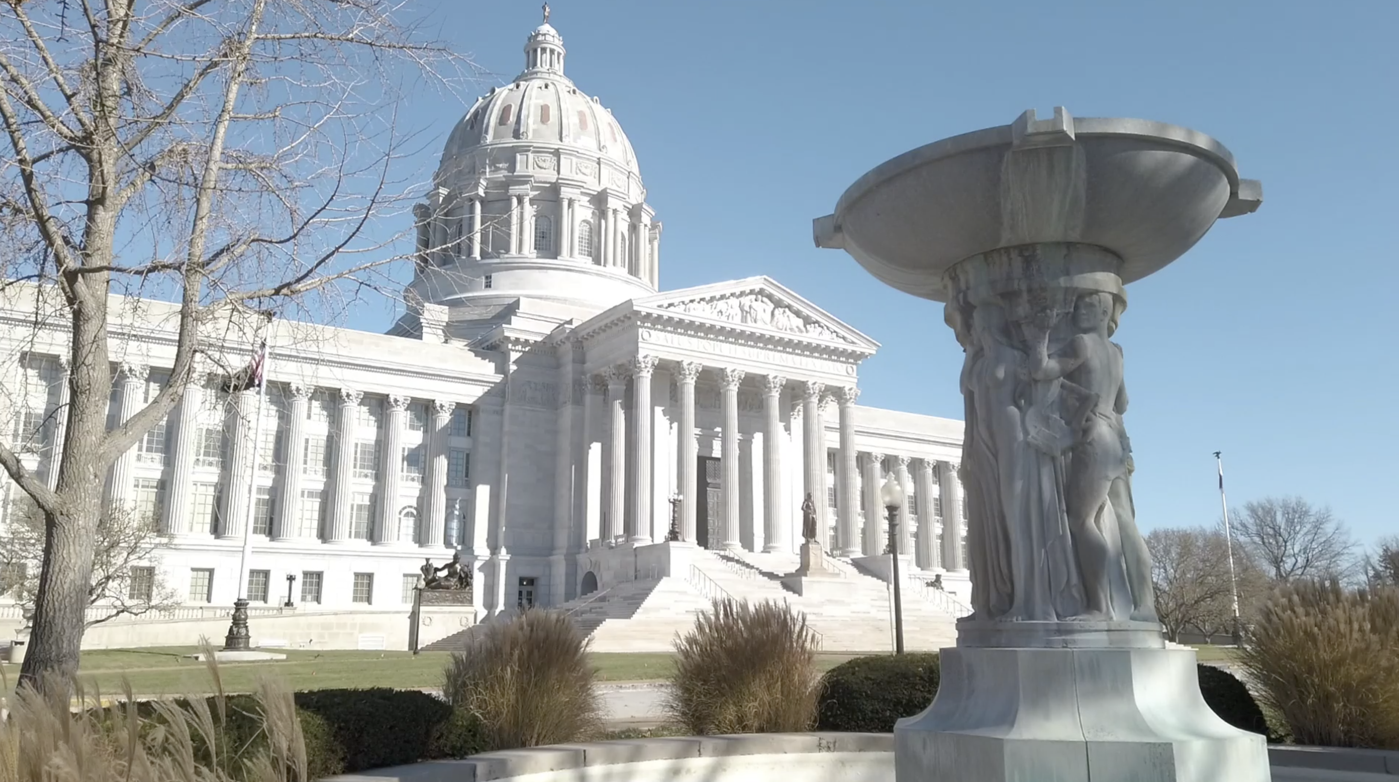 The Missouri Capitol in early December 2020.
