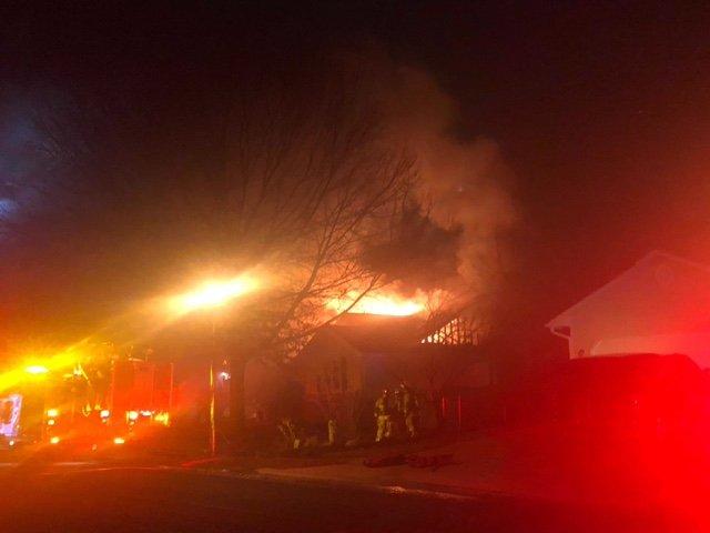 Crews respond to a house fire on Blackford Court