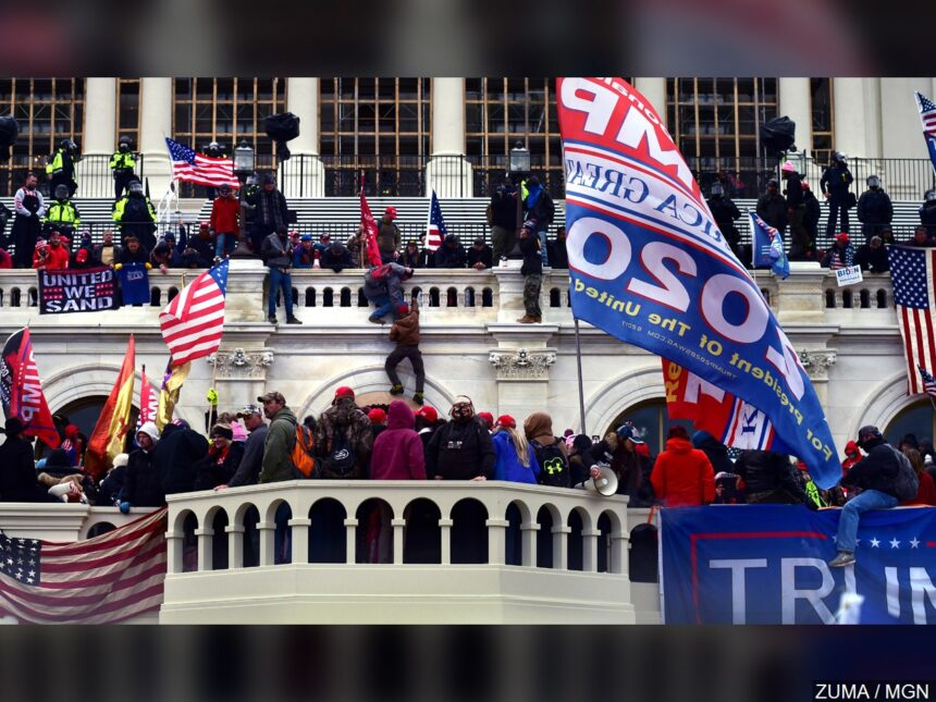 Pro-Trump rioters outside Capitol