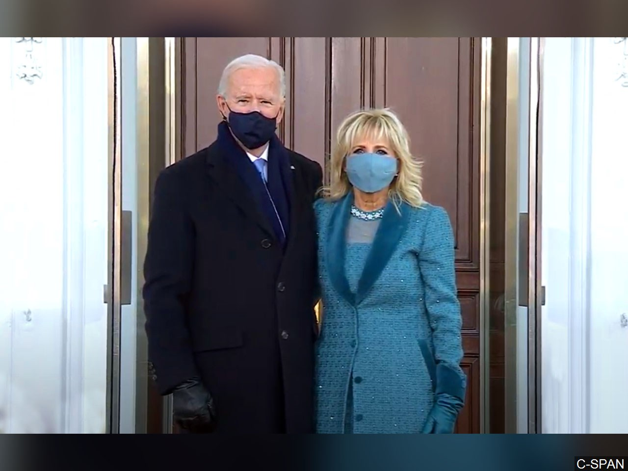 President Joe Biden and first lady Jill Biden at the presidential inauguration on Wednesday, Jan. 20. 2021.