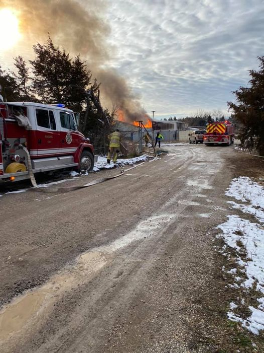 Jonesburg-High Hill firefighters responded to a structure fire on Lions Estate Drive Monday morning.