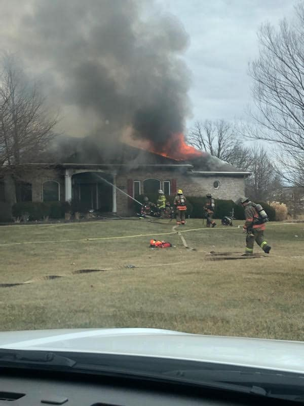 Boone County Fire District firefighters responded to 7900 block of N. Benthall Rd to a house fire just after 1 p.m.