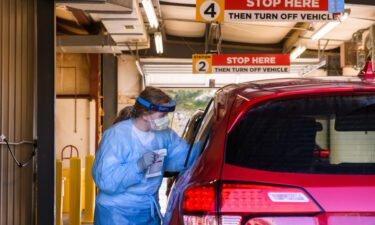 Drive-thru coronavirus testing site at Mizzou North