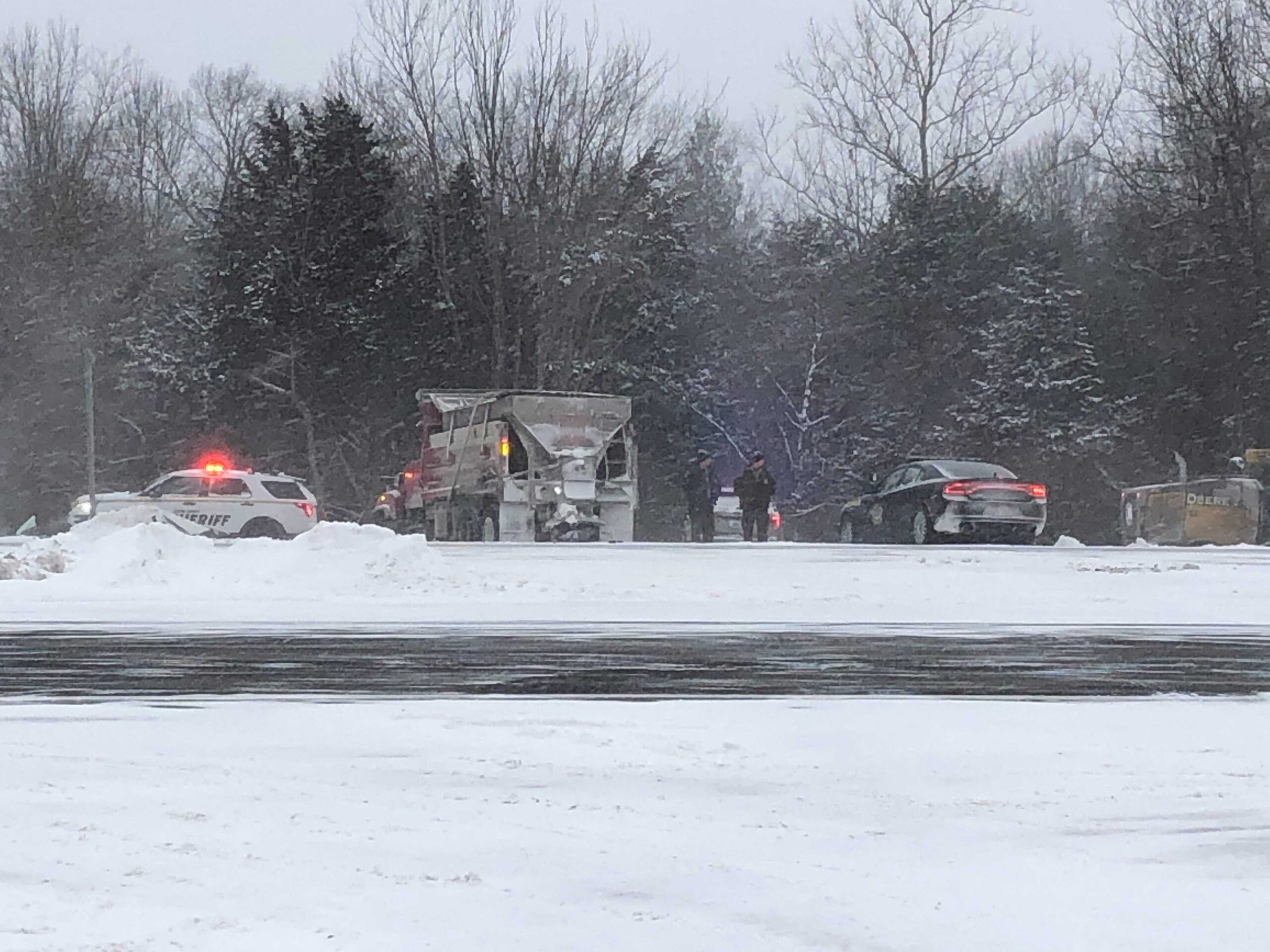 Death reported in Boone County crash with snowplow