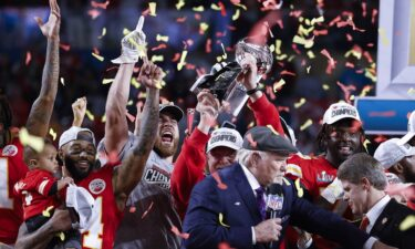 Kansas City Chiefs celebrate Super Bowl win