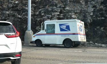 Postal Service truck in crash