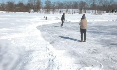 Skating at Stephens Lake Park