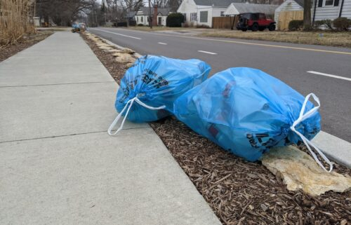 Columbia Recycling Bags on Feb. 1st, 2021.
