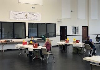 Vaccine outreach clinic in Columbia