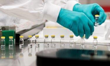 Vials of coronavirus vaccine