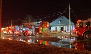 Columbia fire crews work to put out a fire on West Worley Street Tuesday morning.