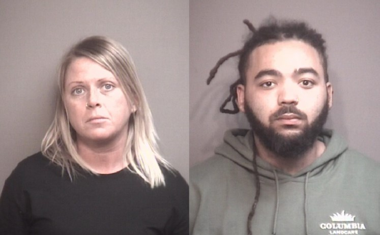 Kelly L. Thornton (left) and Devonte Prendergast. Columbia police arrested the pair in connection with a Jan. 21 burglary on Juniper Drive.