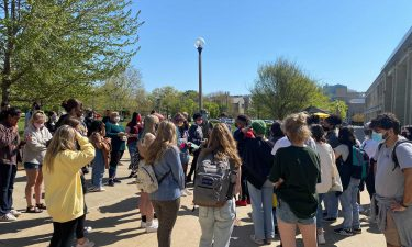 Student protesters at MU