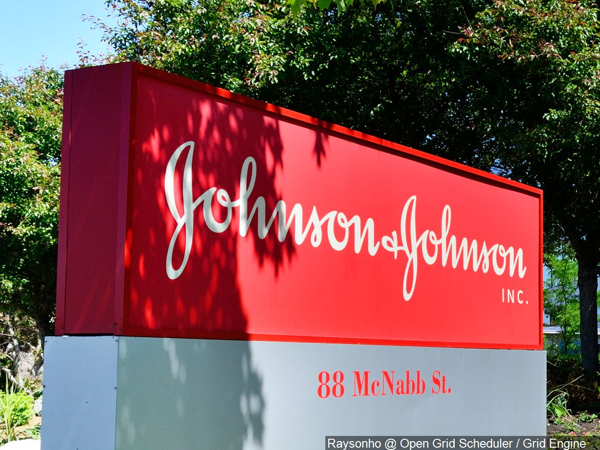 Johnson and Johnson sign