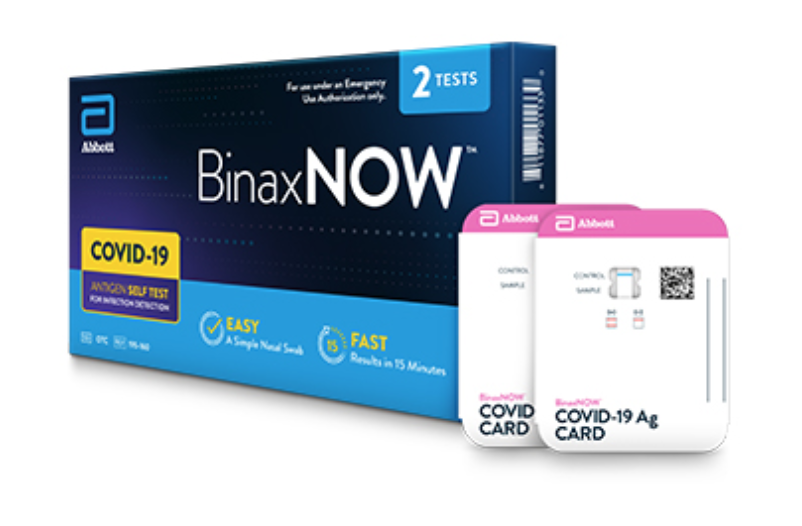 BinaxNOW COVID-19 at Home Test, Source: Abbott Website