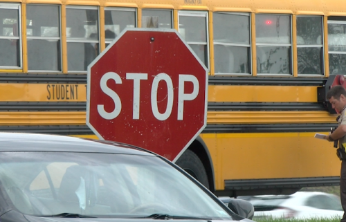 A CPS student was hit walking to the school bus Wednesday morning.