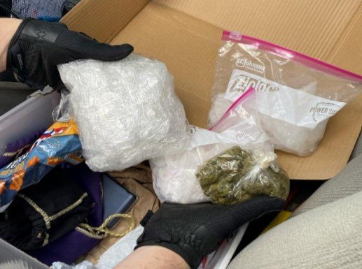 Jefferson City police say a man was arrested with more than 3 pounds of drugs on Thursday.