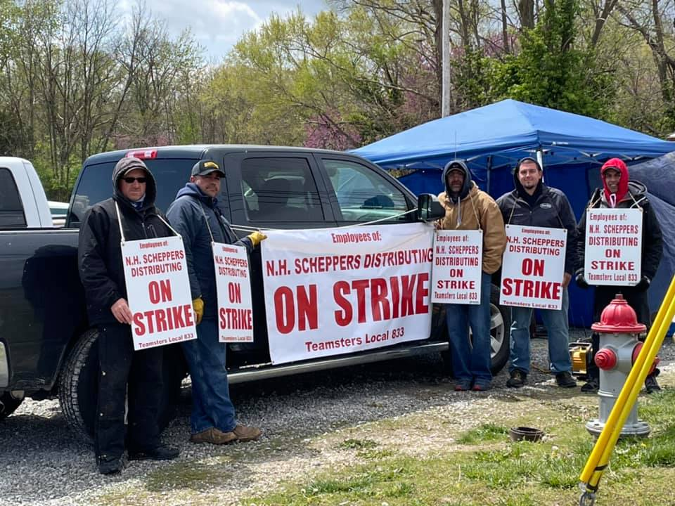 Members of the Teamsters Local 833 have been on strike for three days after months of contract negotiations with N.H. Scheppers Distributing failed.