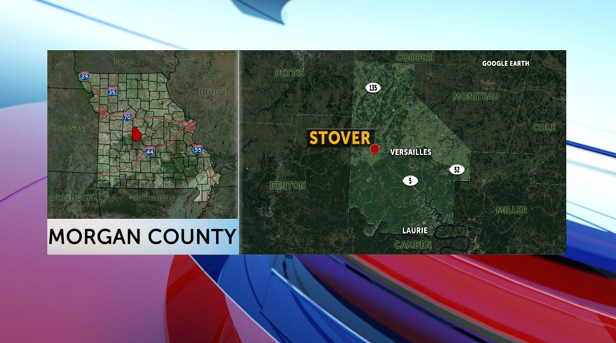 Map of Stover, Missouri.