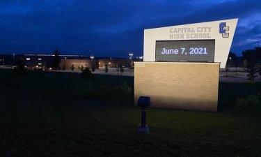 Capital City High School entrance on June 7, 2021.