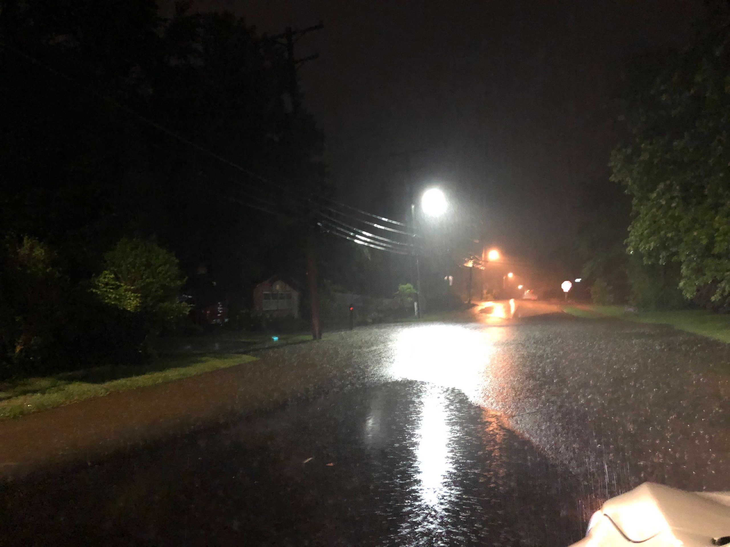West Ash street and West Boulevard flooding.