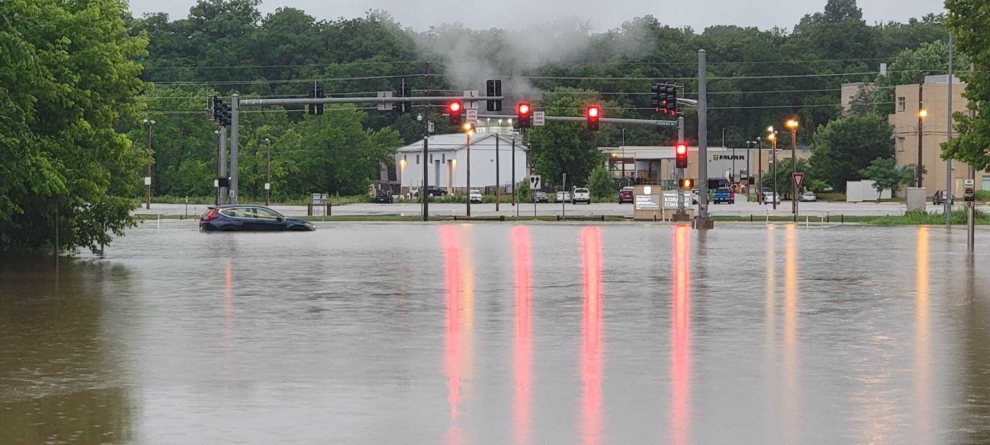 Flooding at Providence and Mick Deaver
