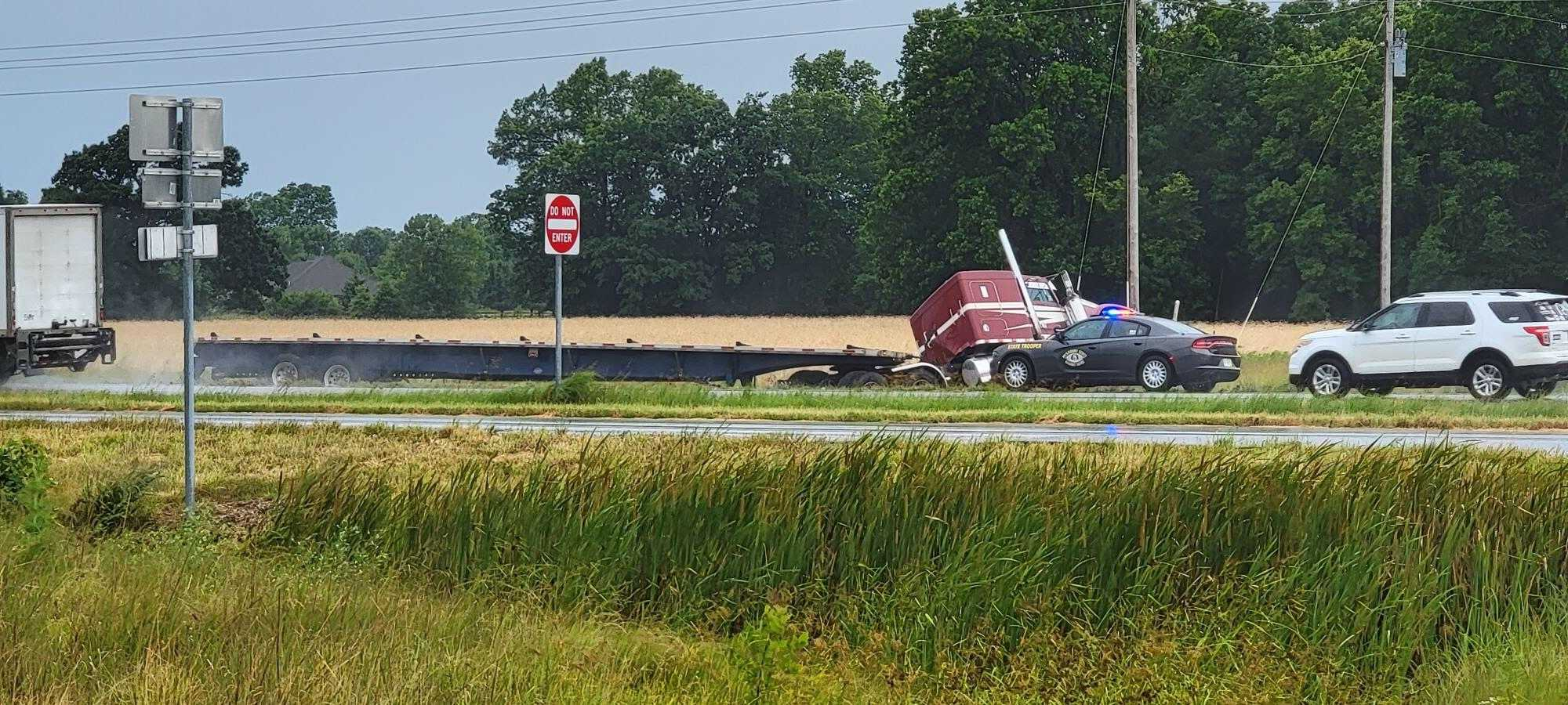 One person was injured in a crash on Highway 63 near Sturgeon late Thursday morning.