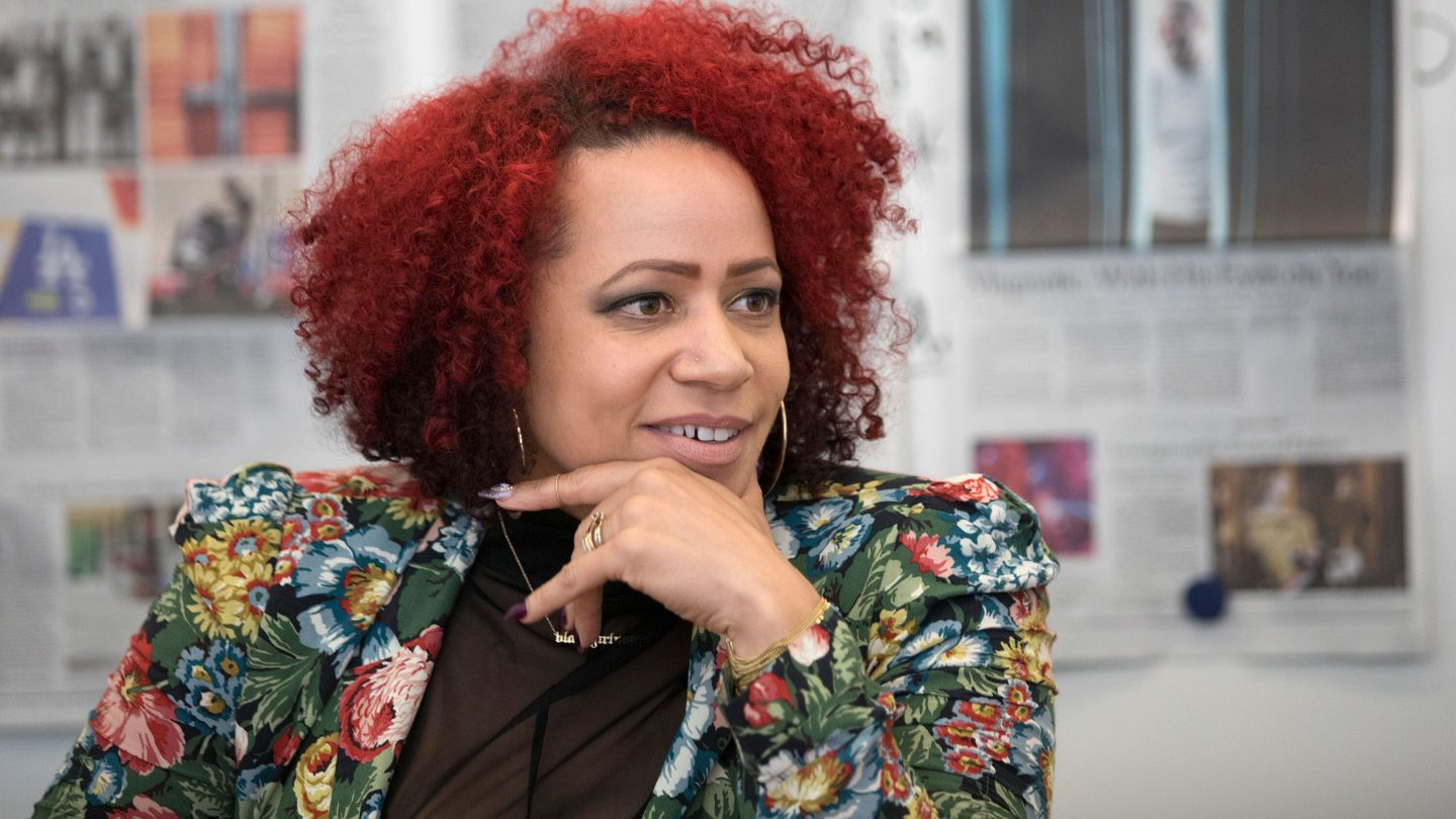 <i>James Estrin/The New York Times/Redux Pictures</i><br/>Nikole Hannah-Jones during an interview after winning a MacArthur Foundation Fellowship