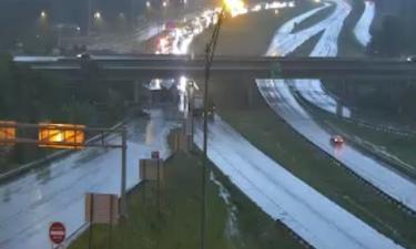 A crash is causing a major backup on I-70 EB Wednesday morning.