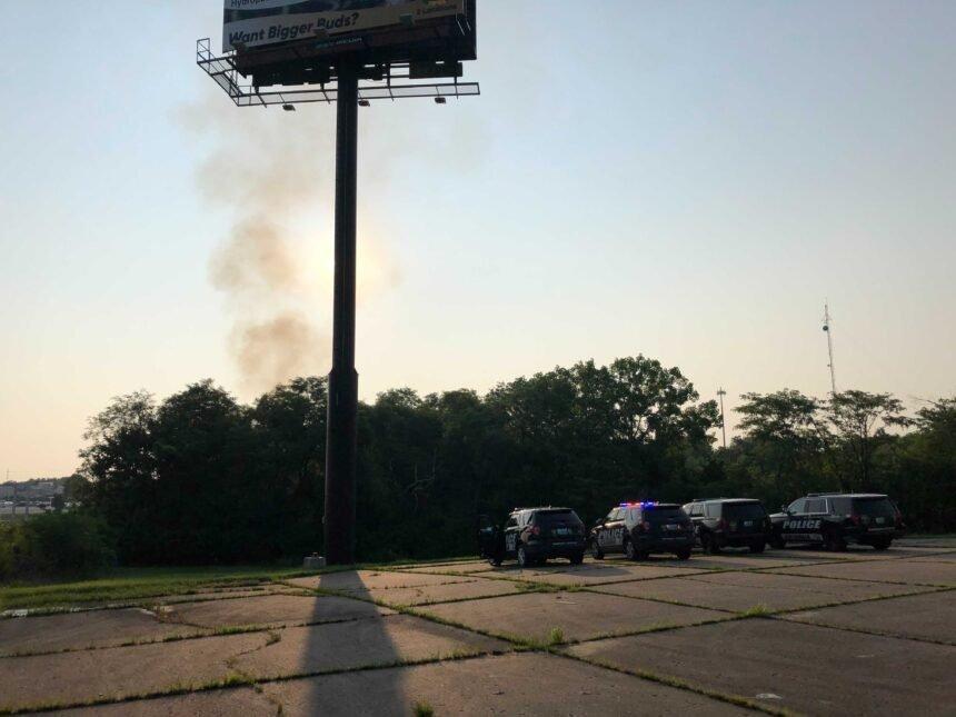 Trash pile fire off of Rangeline near I-70 on July 18., 2021