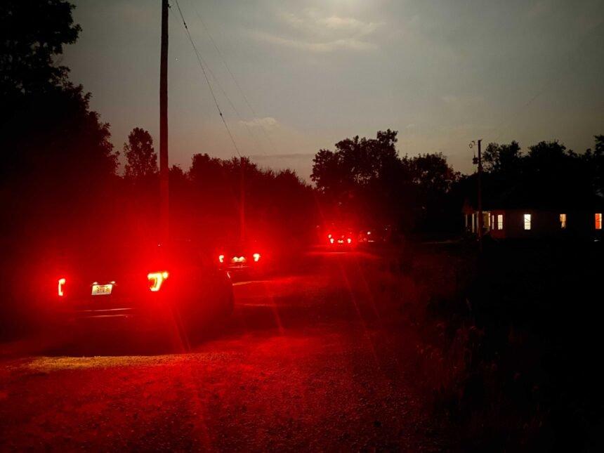 Law Enforcement investigates scene in 23000 block of Schunemeyer Road on July 25, 2021