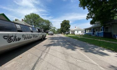 The 300 block of East Burkhart Street in Moberly where a man was shot in the head.