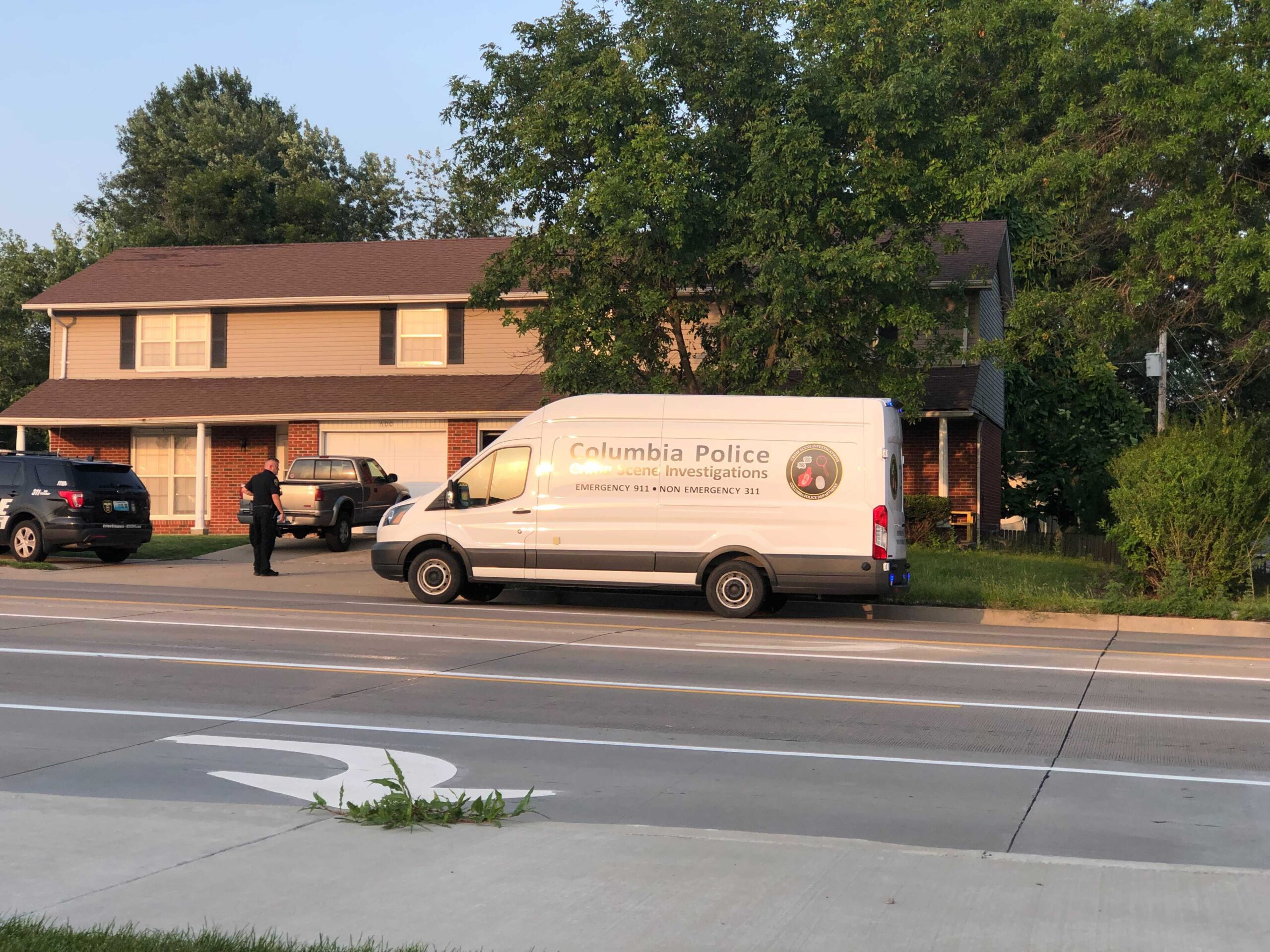 Police respond to a report of shots fired on Scott Boulevard.