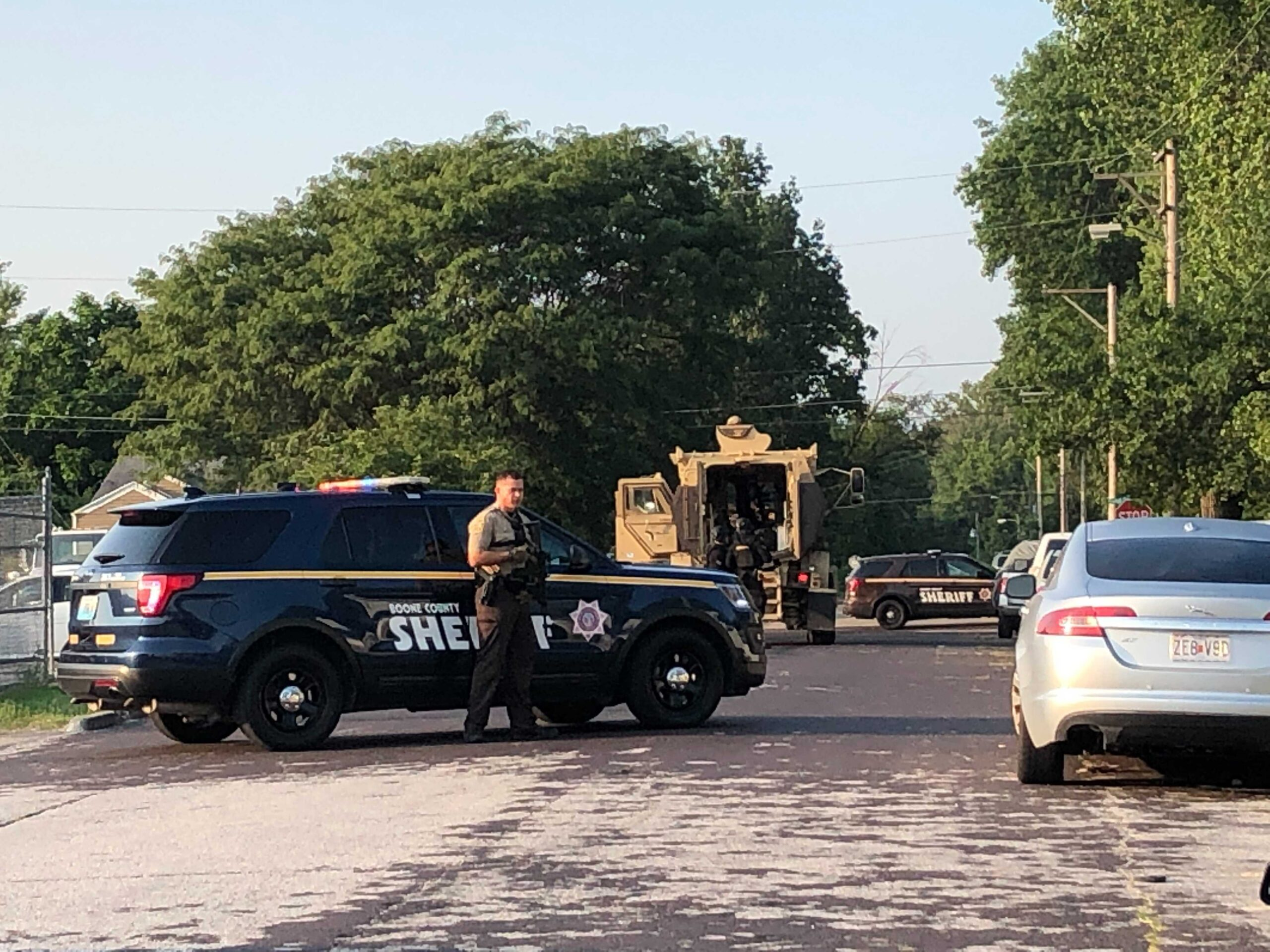 Boone County deputies respond to a home on Jewell Avenue Tuesday.