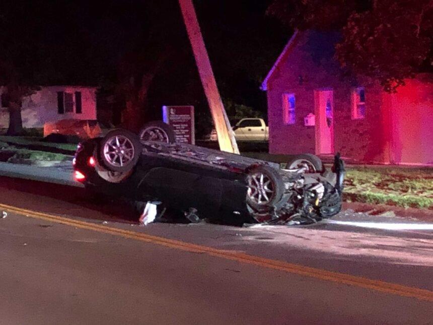 Car flipped on Worley St. & N. Garth Ave on July 18, 2021