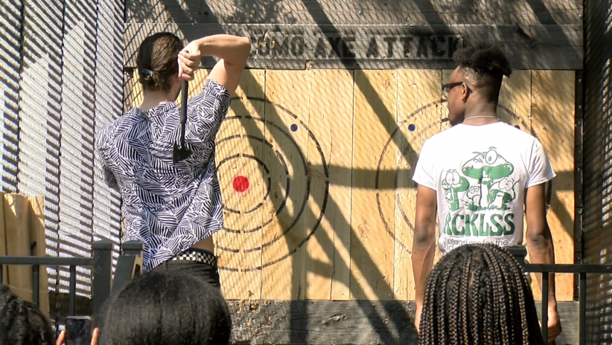 Axe Throwing, a new event comes to Jefferson City's Salute to America