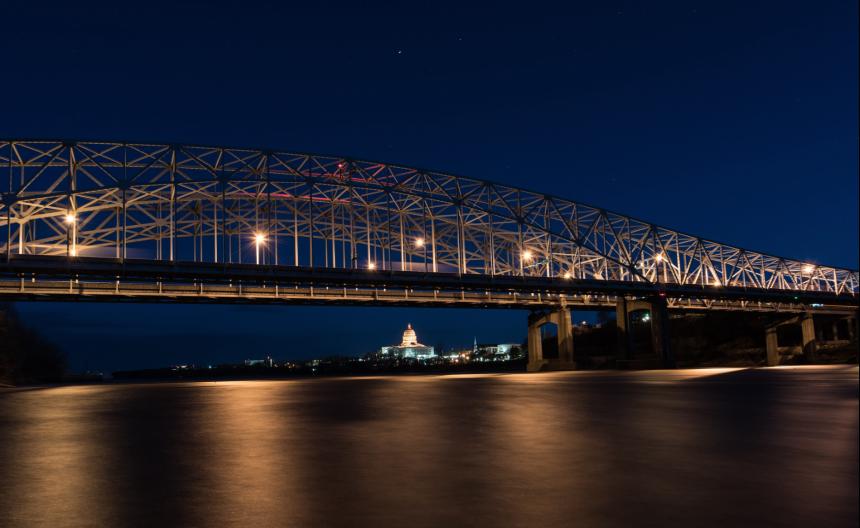 Missouri River Bridge in Jefferson City