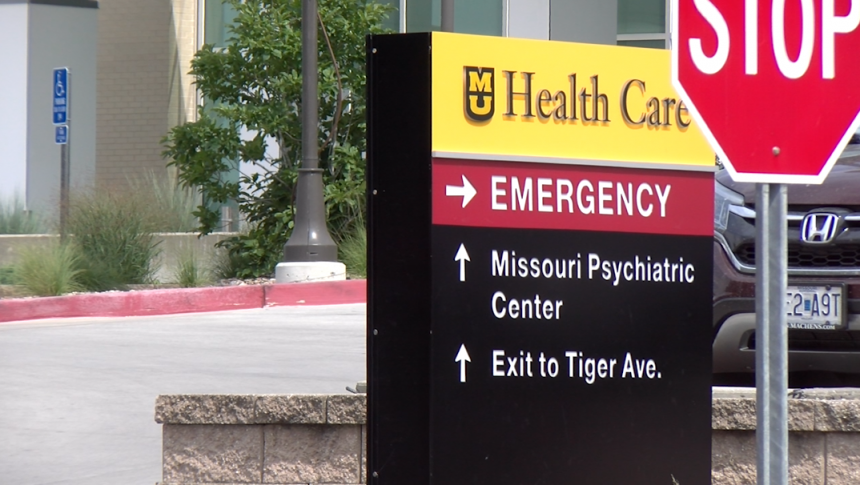 Emergency Entrance to MU Health Care in Columbia